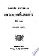 Reseña Histórica Del Glorioso Alzamiento de 1840