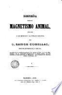 Reseña sobre el magnetismo animal ...