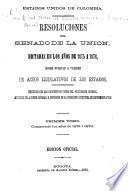 Resoluciones del Senado de la Unión, dictadas en los años de 1875 a 1878, sobre nulidad o validez de actos legislativos de los estados