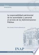 responsabilidad patrimonial de las autoridades y personal al servicio de las Administraciones Públicas