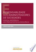 Responsabilidade dos administradores de sociedades