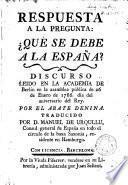 Respuesta a la pregunta: qué se debe a la España?