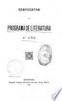 Respuestas al programa de literatura, 22. año