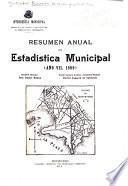 Resumen anual de estadística municipal