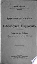 Resumen de historia de la literatura española