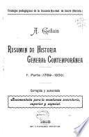Resumen de historia general contemporánea: 1789-1850