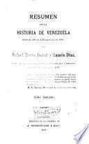 Résúmen de la historia de Venezuela