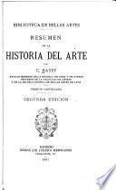 Resumen de la historia del arte