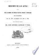 Resúmen de las actas de la Real Academia de Ciencias Exactas, Físicas y Naturales de Madrid, en al año académico de 1863 á 1864
