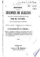 Resumen de las lecciones de análisis dadas en la escuela politécnica de Paris