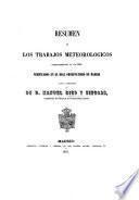 Resumen de los Trabajos meteorologicos correspondientes en año 1854 verificados en el Real Observatorio de Madrid