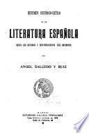 Resumen histórico-crítico de la literatura española