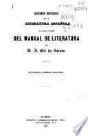 Resumen histórico de la Literatura española