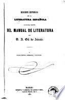 Resumen historico de la literatura española