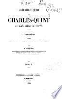 Retraite et mort de Charles-Quint au Monastére de Yuste