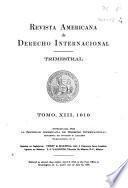 Revista americana de derecho internacional