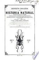 Revista chilena de historia natural pura y aplicada, dedicada al fomento y cultivo de las ciencias naturales en Chile ...