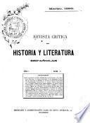 Revista crítica de historia y literatura españolas