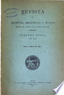 Revista de archivos, bibliotecas y museos