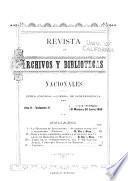 Revista de archivos y bibliotecas nacionales