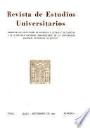 Revista de estudios universitarios
