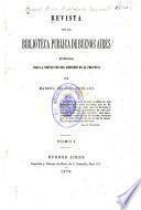 Revista de la Biblioteca publica de Buenos Aires