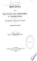 Revista de la Facultad de Agronomía y Veterinaria, La Plata