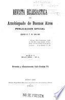 Revista eclesiástica del Arzobispado de Buenos Aires