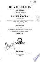 Revolucion de 1830, y situacion presente de la Francia, noviembre de 1833