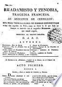 Rhadamisto y Zenobia, Tragedia Francesa