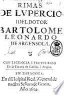 Rimas de Lupercio Argensola i del doctor Bartolomé Leonardo de Argensola