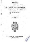 Rimas de Lupercio Leonardo de Argensola