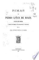 Rimas de Pedro Liñán de Riaza, en gran parte inéditas