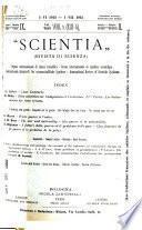Rivista di scienza, Scientia