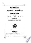 Romance histórico y geográfico de la isla de Cuba