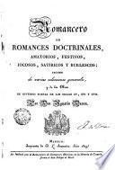Romancero de Romances doctrinales, amatorios, festivos, jocosos, satíricos y burlescos