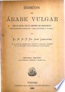 Rudimentos del árabe vulgar que se habla en el Imperio de Marruecos