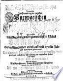 Ruhe des jetztlebenden Europa Dargestellet In Sammlung der neuesten Europaeischen Frieden-Schlüße