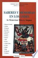 Saberes y memorias en los Andes