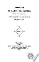 Sainetes de D. Juan del Castillo