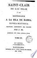 Saint-Clair de las Islas; ó Los desterrados a la isla de barra, 3