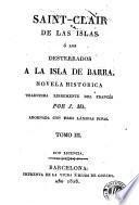 Saint-Clair de las Islas, ó, Los desterrados á la Isla de Barra