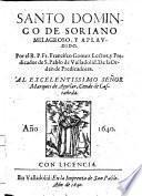 Santo Domingo De Soriano Milagroso, Y Aplaudido