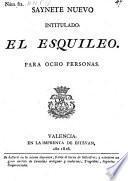 Saynete nuevo intitulado: el Esquileo. (etc.)
