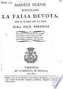 Saynete nuevo intitulado: La falsa devota. (etc.)