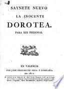 Saynete nuevo, La inocente Dorotea