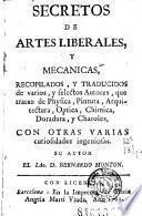 Secretos de artes liberales y mecanicas
