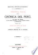 Segunda parte de La crónica del Perú