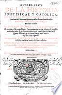 Segunda parte de la Historia pontifical y catolica