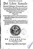 Segunda parte del libro llamado Monte Calvarió